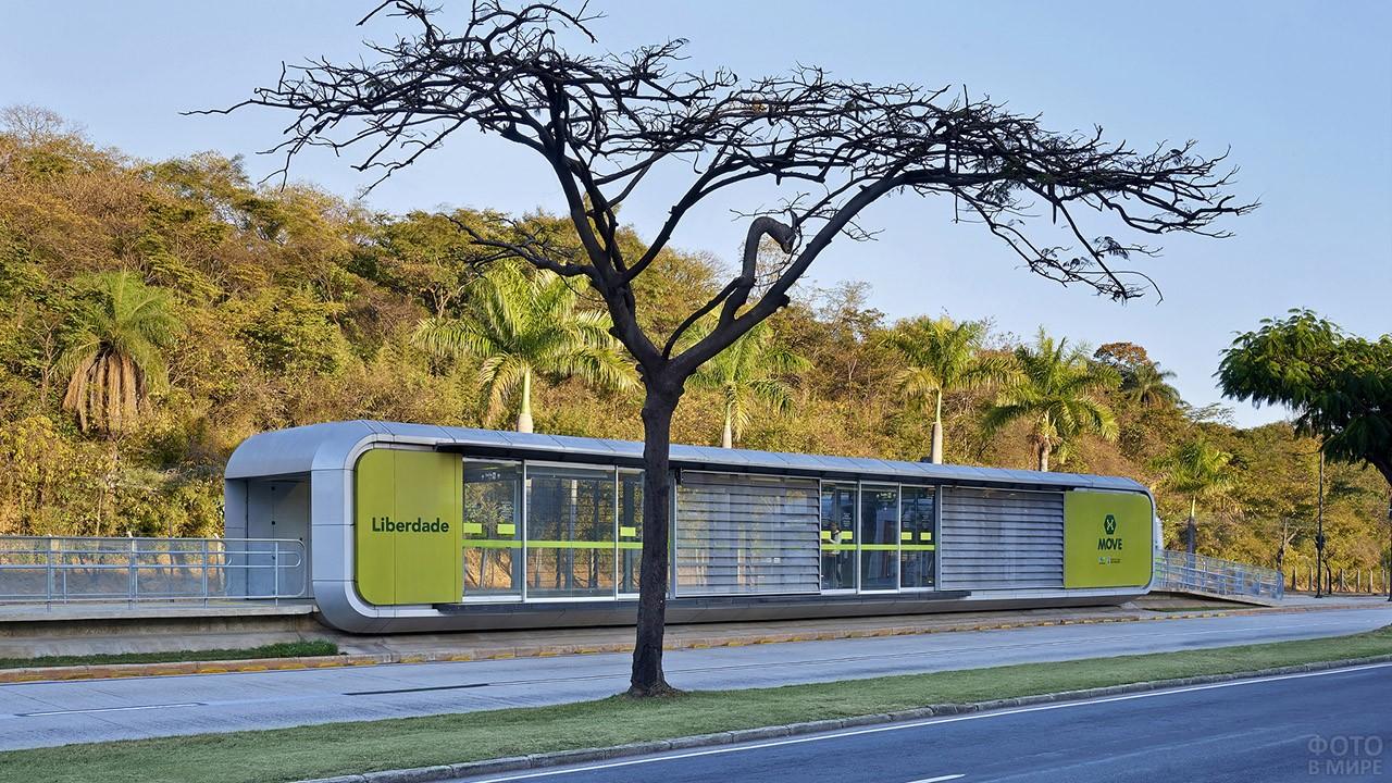 Крытый остановочный комплекс в Бразилии