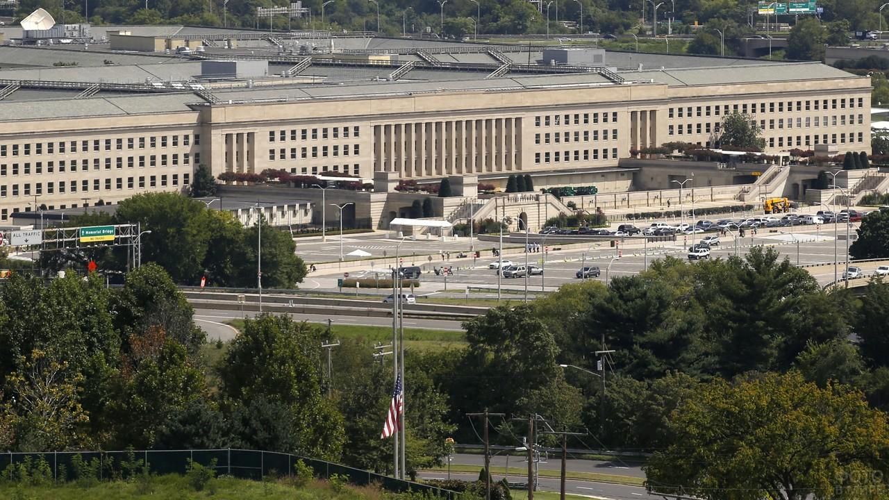 Вид на Пентагон с улицы