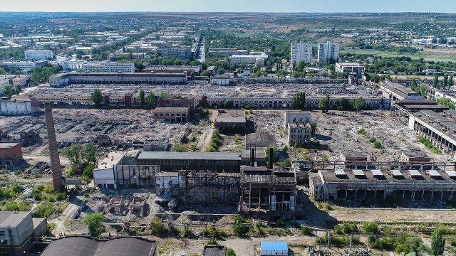 Панорама заброшенного тракторного завода в Волгограде