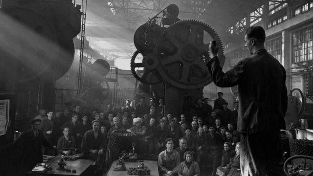 Партийное собрание на Ленинградском заводе имени Кирова, 1950