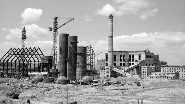 Строительство Карагандинского металлургического комбината, 1958