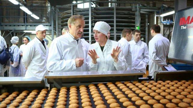 Запуск новой линии производства печенья на заводе Полёт