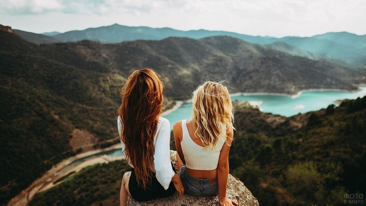 Две подруги в горах