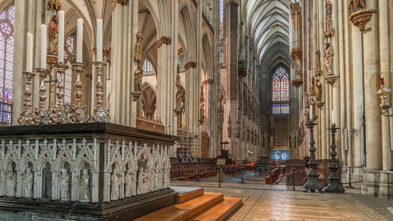 Кёльнский собор внутри