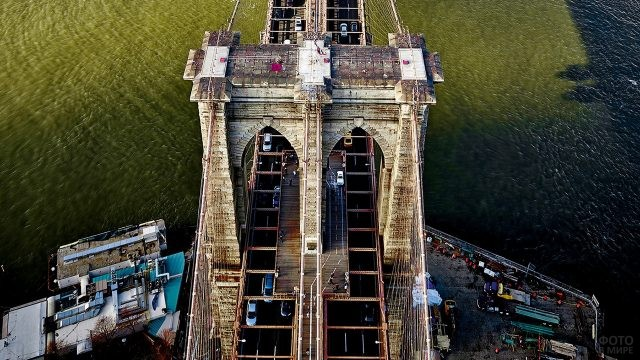 Арка моста с высоты