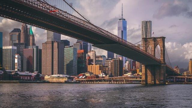 Бруклинский мост снизу
