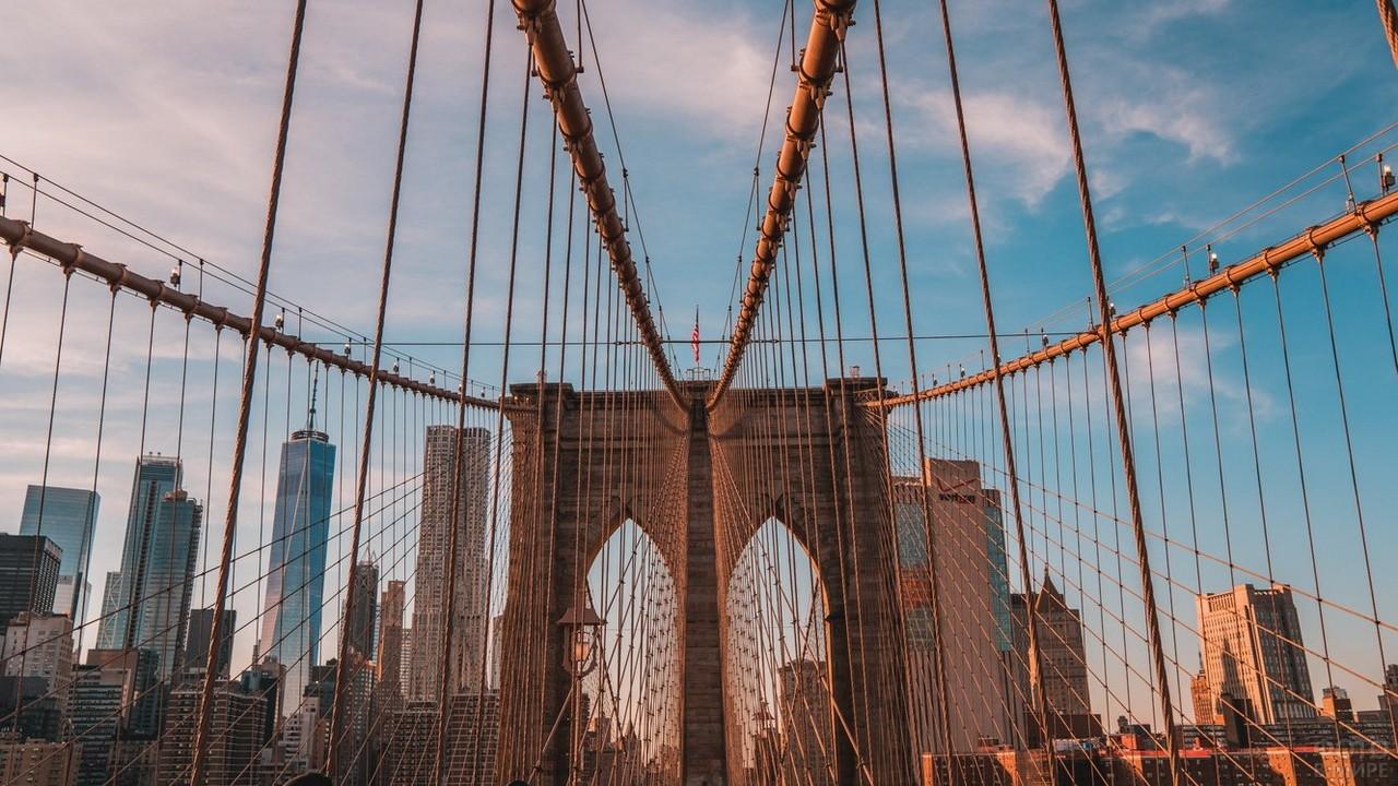 Гибкие элементы моста