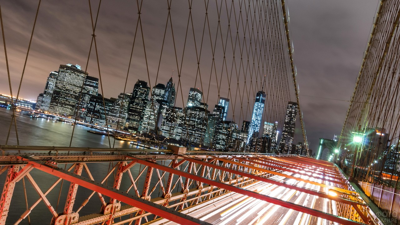 Ночной Манхэттен с моста