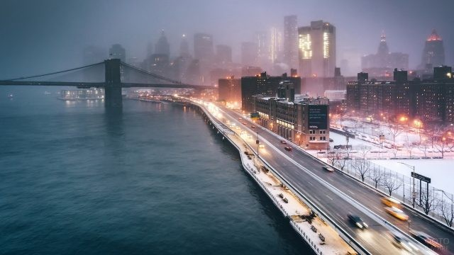 Туман над Нью-Йорком
