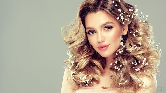 Свадебная причёска на средние волосы