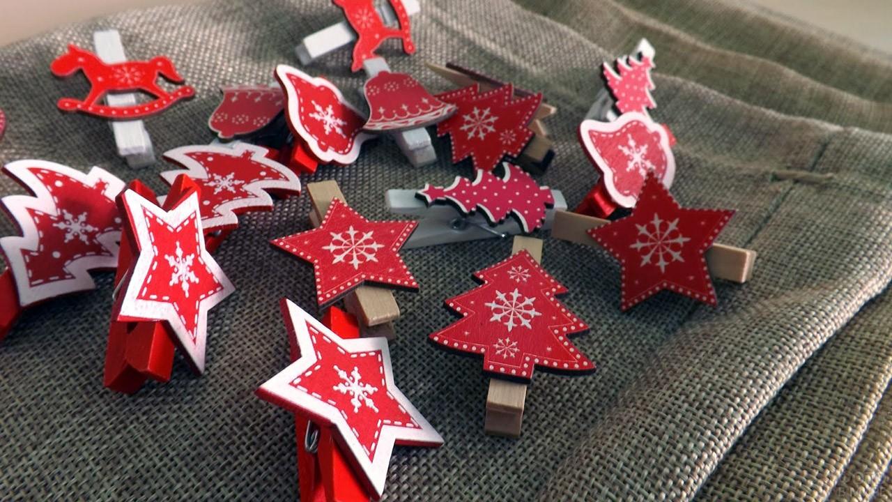 Новогодние сувениры на прищепках своими руками