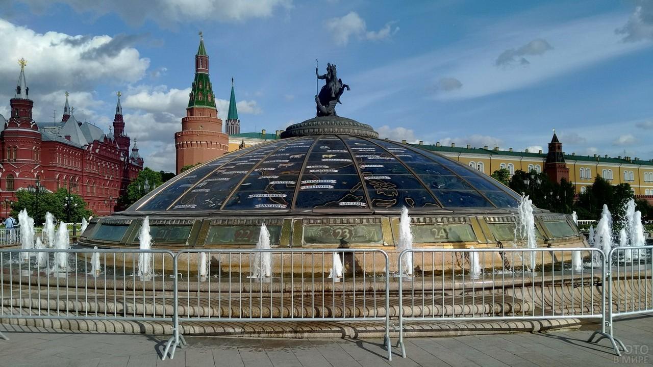 Фонтан Часы мира в Москве