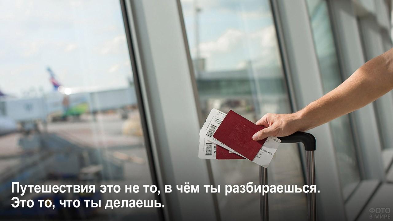 Не разбираться, а делать - билеты и паспорта в руке