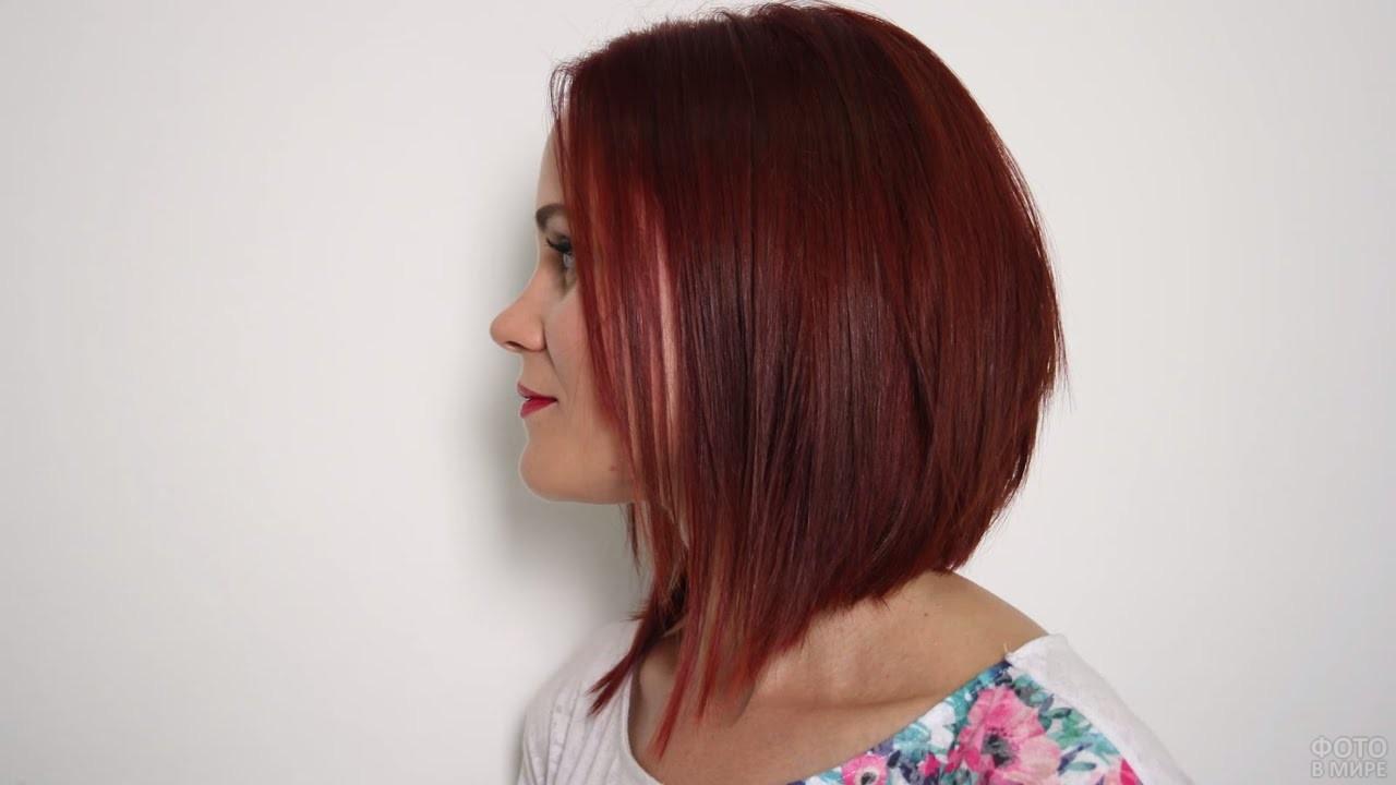 Причёска боб каре