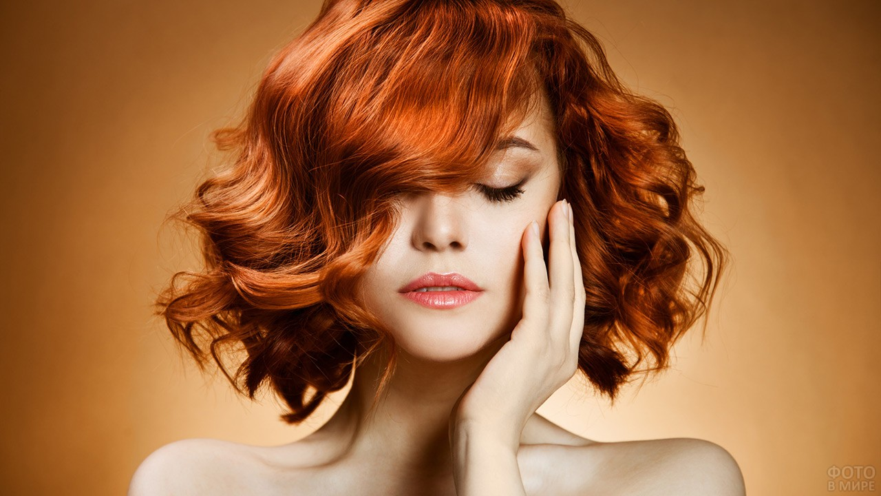 Причёска на короткие рыжие волосы