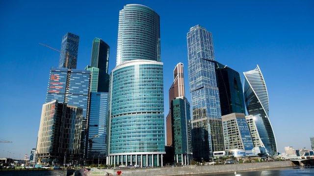 Вид на Москва-Сити с Третьего транспортного кольца