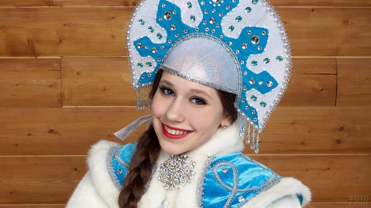 Снегурочка в голубом кокошнике