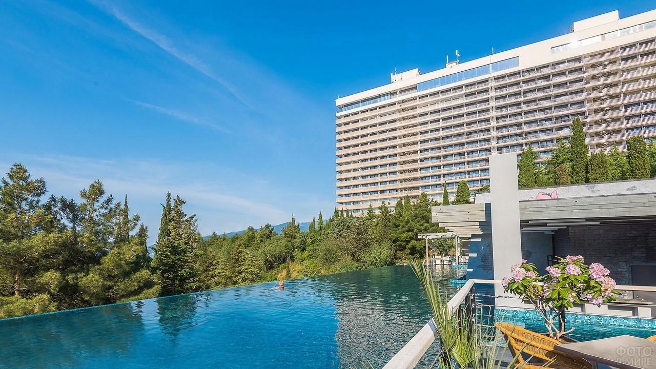 Большой бассейн у гостиницы в Ялте