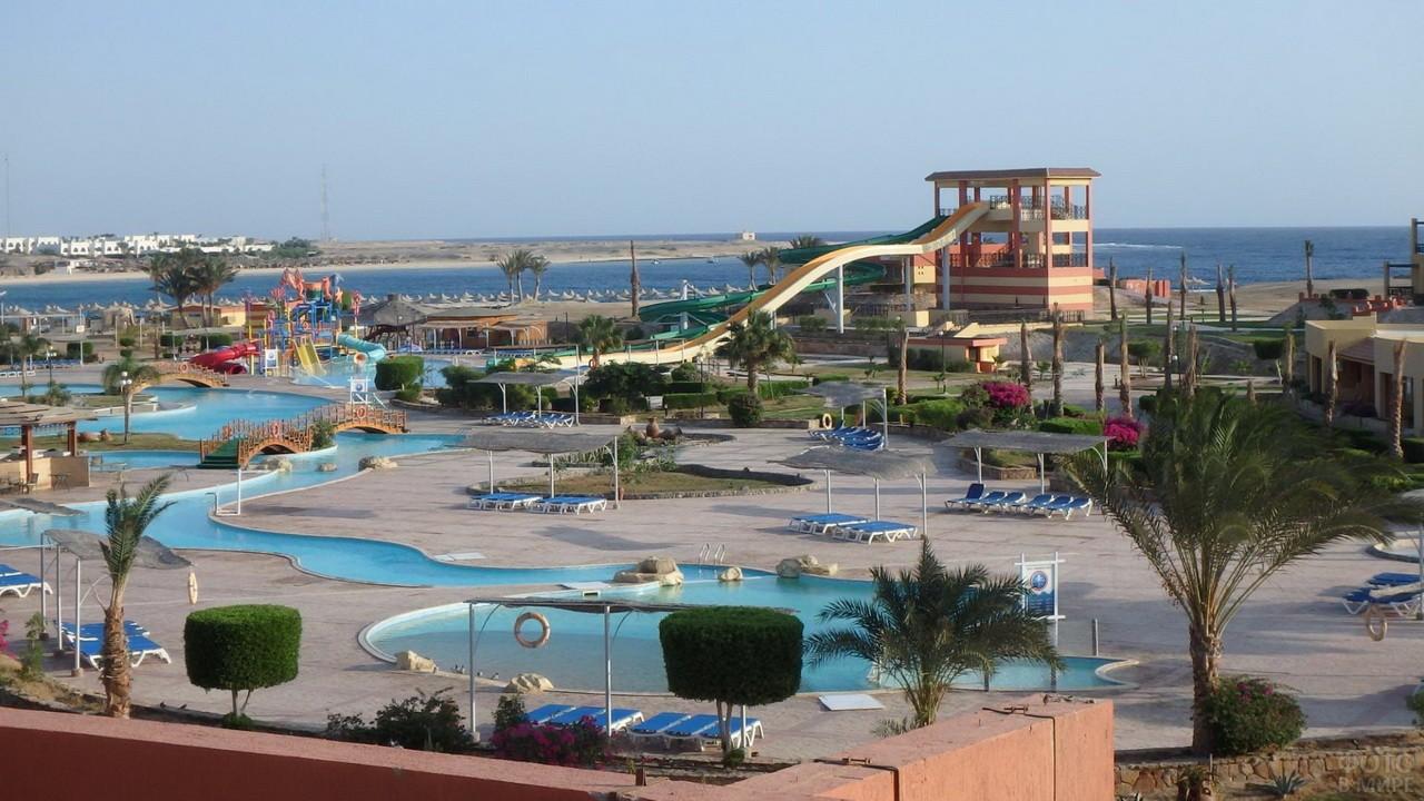 Пляж в отеле с детской зоной
