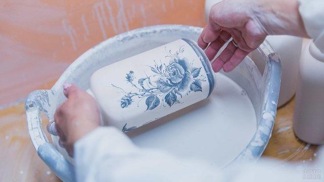 Изготовление фарфоровой вазы