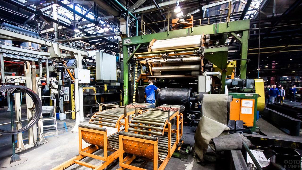Линия Волжского шинного завода