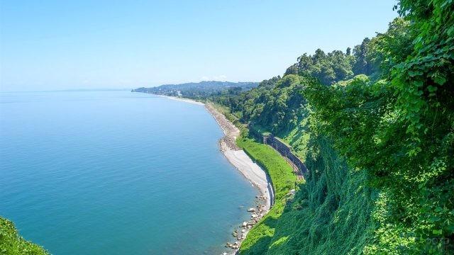 Изумрудная зелень грузинского побережья