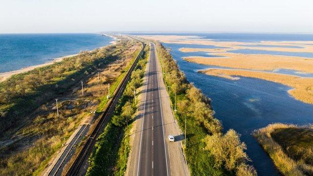 Коса между Чёрным и Азовским морем