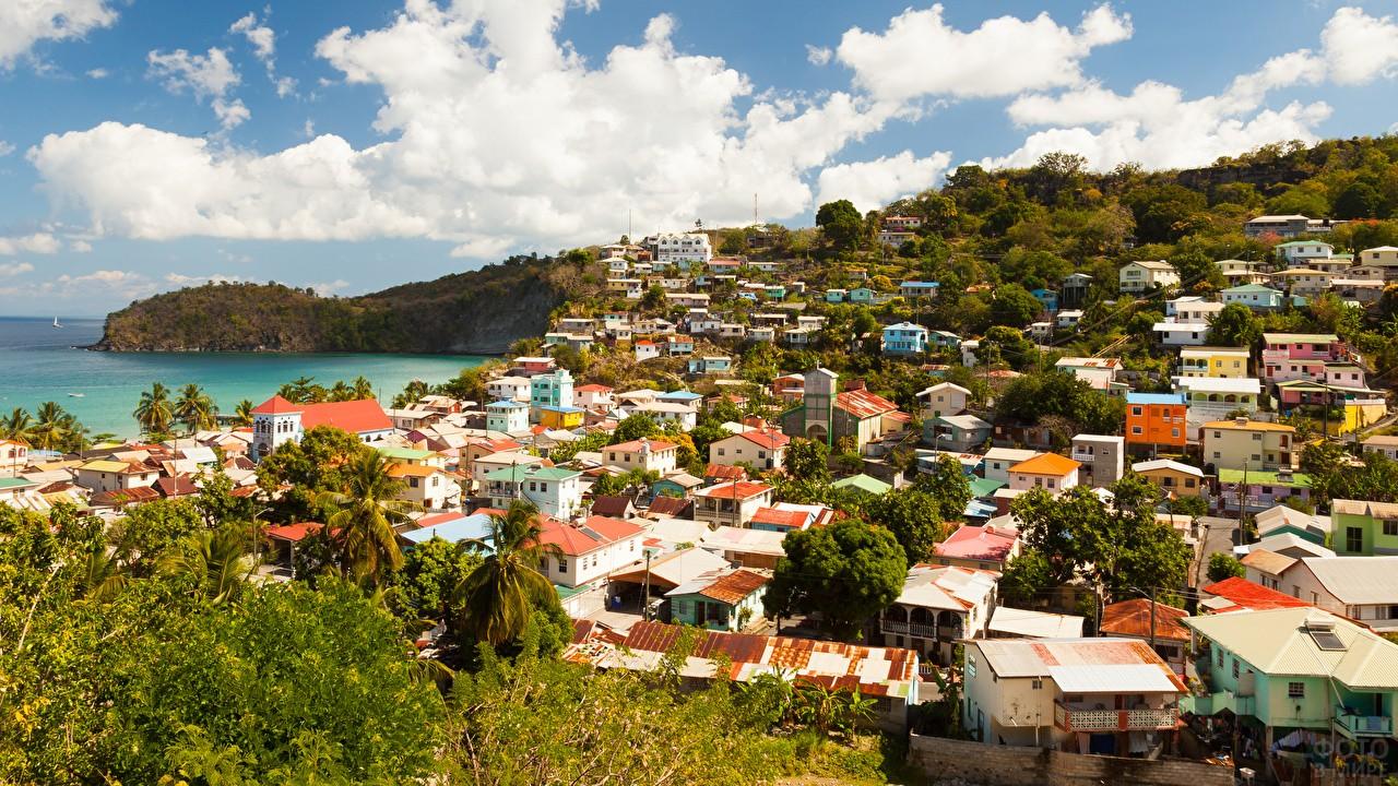 Курортный город на острове Тенерифе