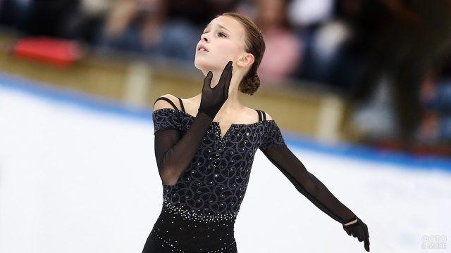 Юная чемпионка Анна Щербакова