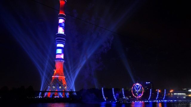 Подсветка Останкинской телебашни