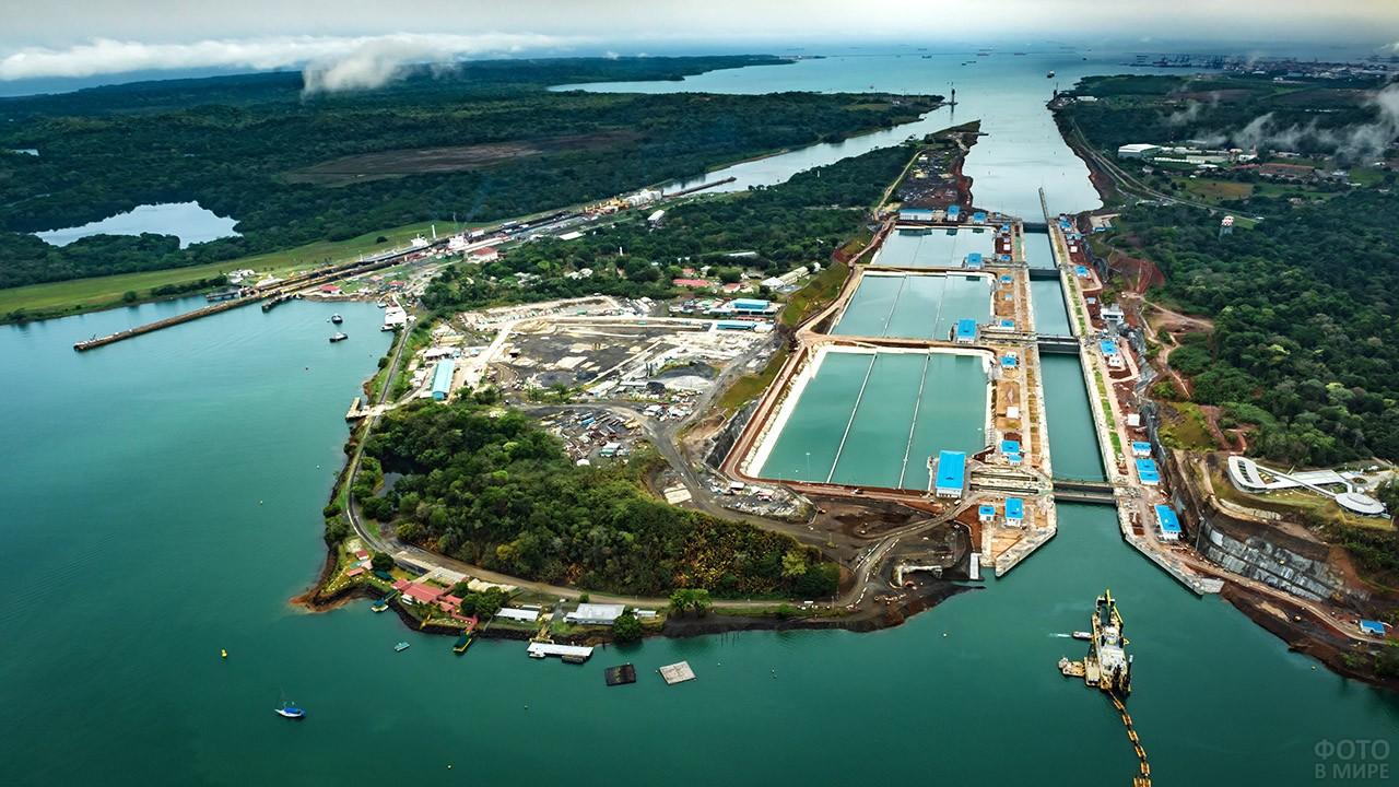 Аэропанорама Панамского канала