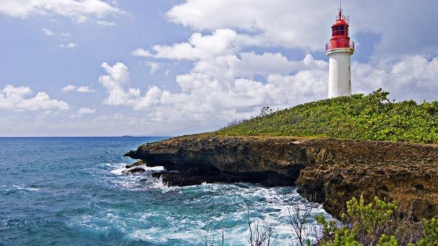 Маяк на острове Антигуа