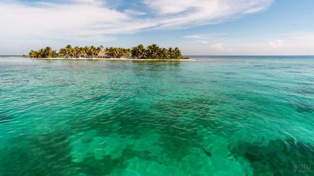 Один из частных островков Белиз