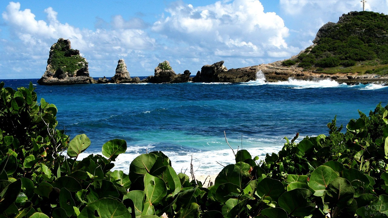 Пуэнт-а-Пирт на острове Гваделупа