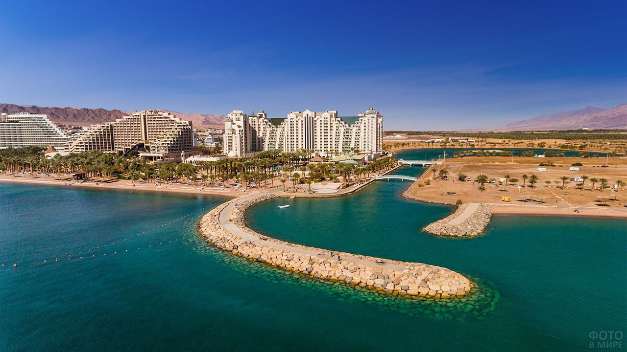 Город Эйлат на юге Израиля
