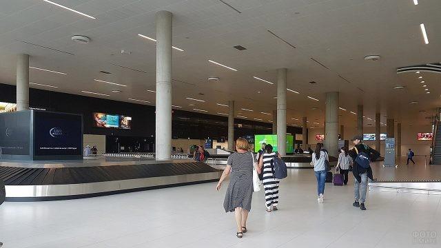 Зона выдачи багажа в аэропорту Загреба