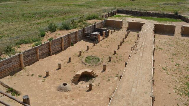 Музеефицированный раскоп жилища