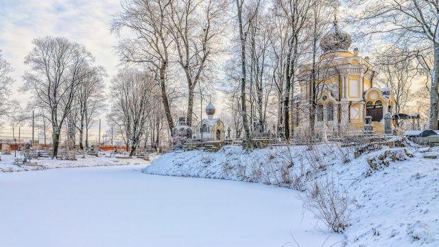 Никольское кладбище зимой