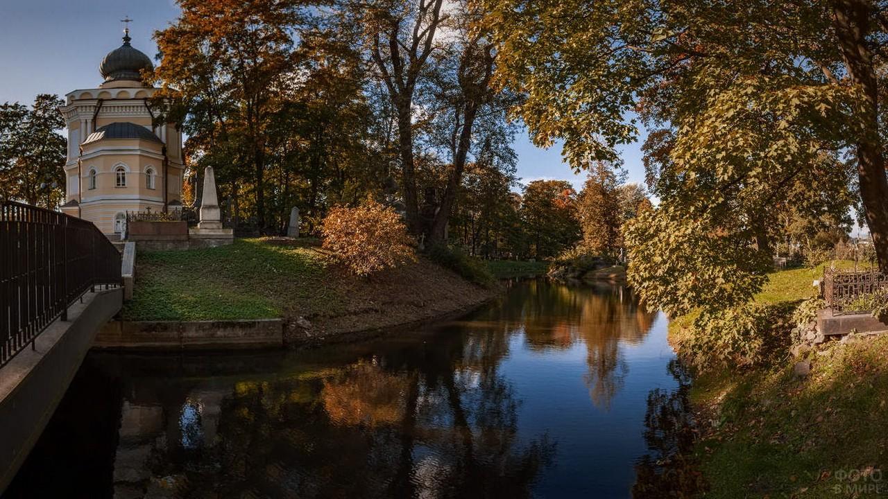 Осенние деревья над рекой