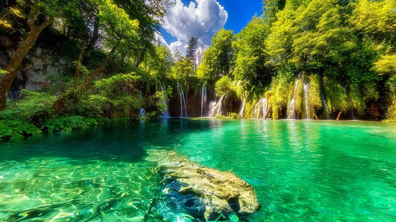 Открыточный вид хорватской достопримечательности