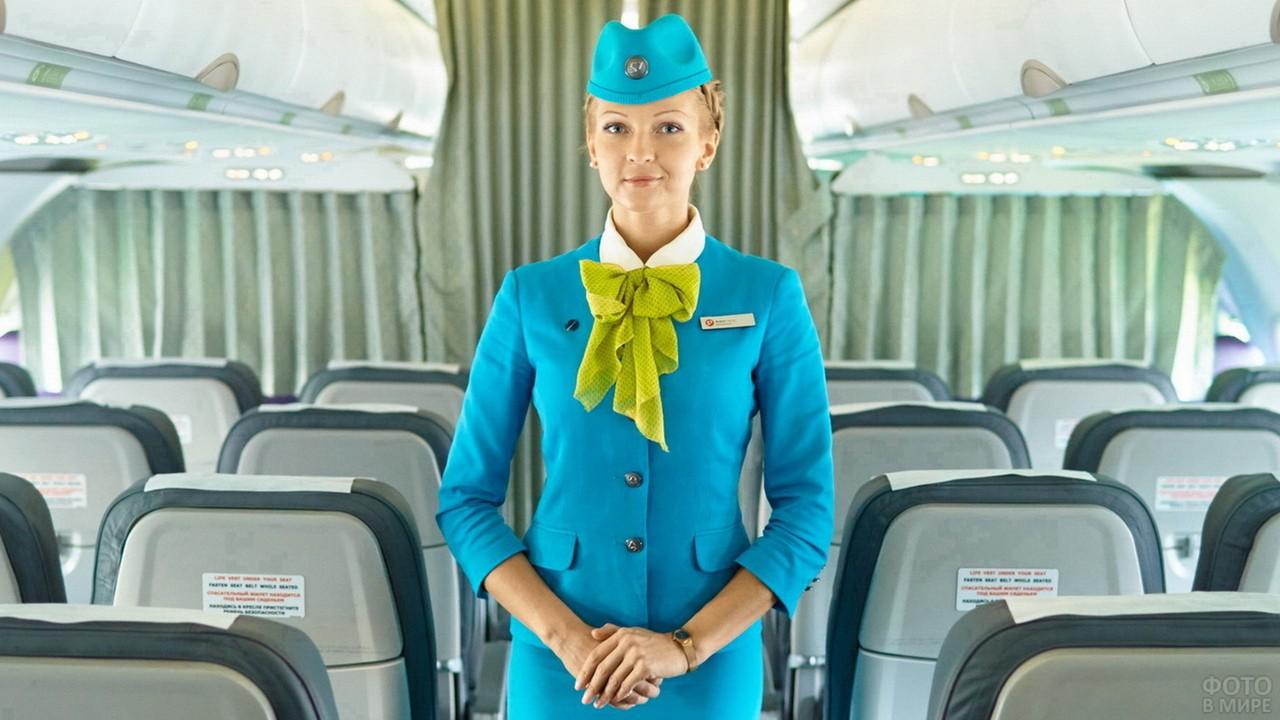 Стюардесса России в самолёте