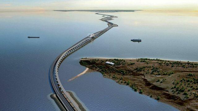 Панорама Керченского пролива