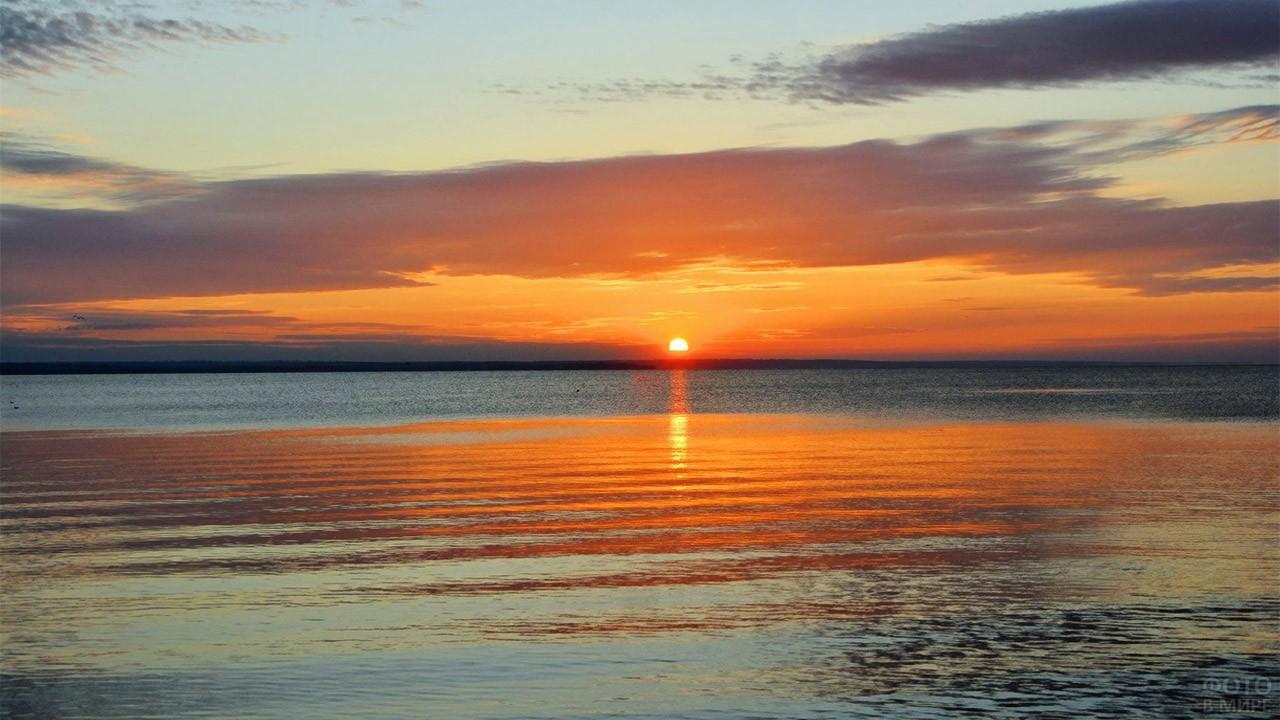 Рассвет над Таганрогским заливом