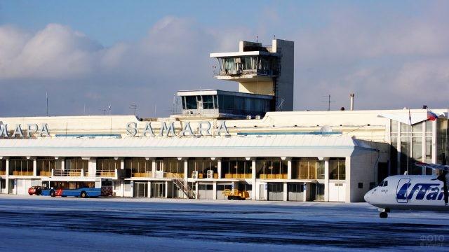 Перрон аэропорта Курумоч в Самаре
