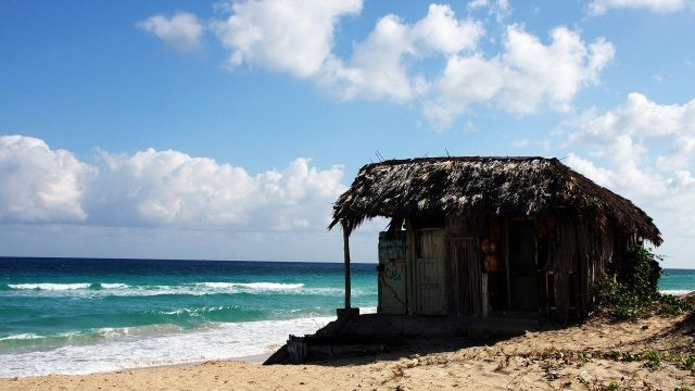 Хибара на берегу Карибского моря