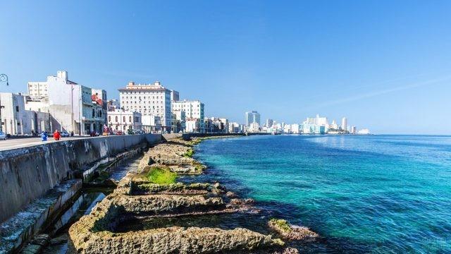 Набережная Малекон в Гаване