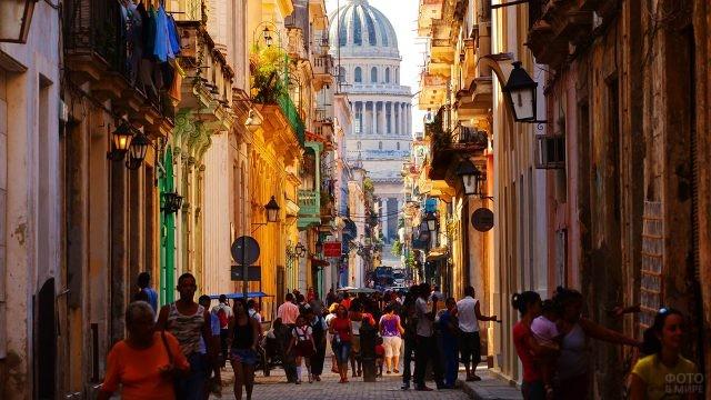 Пешеходная улочка в центре Гаваны