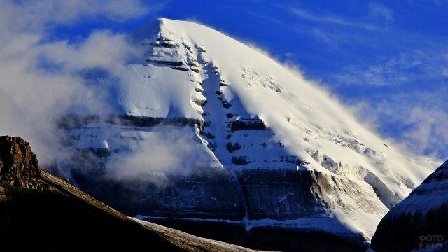 Трещина на южной стороне горы Кангрибоче