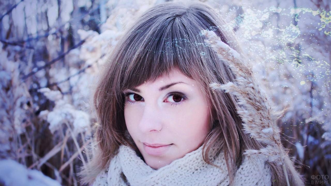 Девушка с косой чёлкой