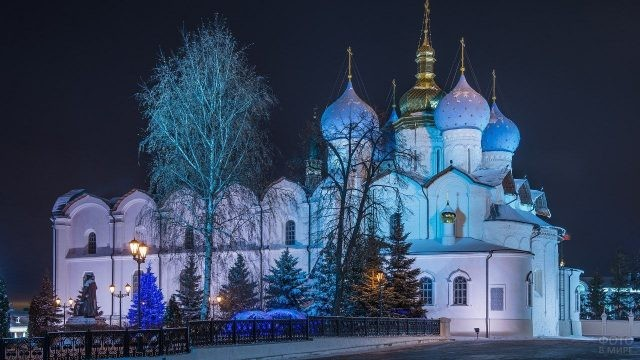 Благовещенский собор ночью